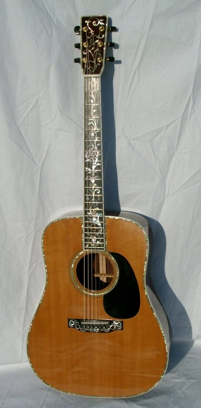1988 martin d45 custom limit edition quot tree of life quot decoration on the fingerboard