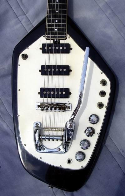Fender Stratocaster Neck >> 60's VOX PHANTOM VI, Black, EX